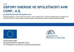 Úspory energie ve společnosti AVM CORP, a. s.