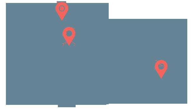 Mapa regionů v ČR